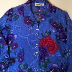 Chicos 2 100% silk ladies blouse